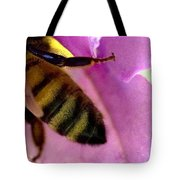 Close View Of Single Honey Bee Tote Bag