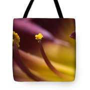 Close View Of Stamen Of A Flower Tote Bag