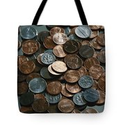 Close View Of United States Coins Tote Bag