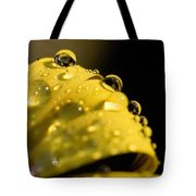 Close View Of Water Droplets Tote Bag