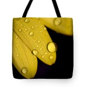 Close View Of Water Drops On The Petals Tote Bag