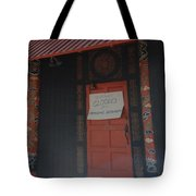Closed For Earthquake Tote Bag