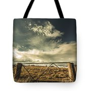 Closed Gates And Open Paddocks Tote Bag