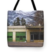 Closed Service Station Painterly Impressions Tote Bag
