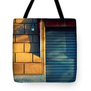 Closed Shop Door At Sunset Tote Bag