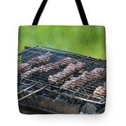 Closeup Kebabs Tote Bag