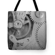 Closeup Macro Of Clock Mechanism Tote Bag