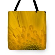 Closeup Of A Yellow Chrysanthemum Tote Bag