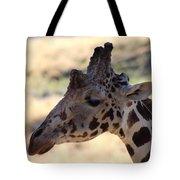 Closeup Of Giraffe Tote Bag