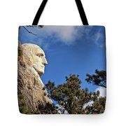 Closeup Profile Of George Washington At Mount Rushmore National Memorial In South Dakota Tote Bag by Sam Antonio Photography