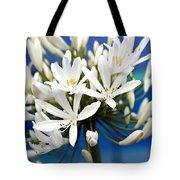 Closeup White Californian Flower Tote Bag
