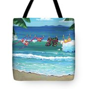 Clothesline At The Beach Tote Bag