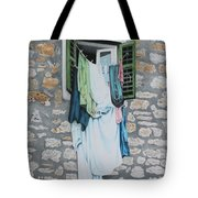 Clotheslines In Dobrovnik Tote Bag