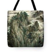 Cloud And Mountain Peak Tote Bag