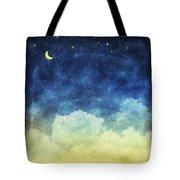 Cloud And Sky At Night Tote Bag