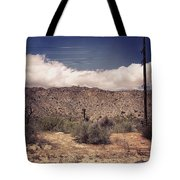 Cloud Blankets Over Joshua Tree Tote Bag