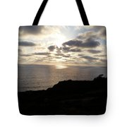 Cloud Break Sunset At  State Natural Reserve In San Diego Tote Bag