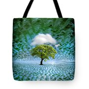 Cloud Cover Recurring Tote Bag