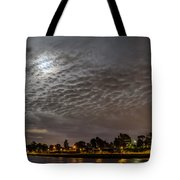 Cloud Covered Moon Tote Bag