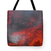 Cloud Fire With Rays Tote Bag