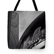 Cloud Gate And Aon Center Black And White Tote Bag