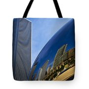 Cloud Gate And Aon Center Tote Bag
