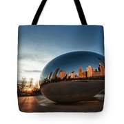 Cloud Gate At Sunrise Tote Bag