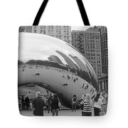 Cloud Gate Chicago Bw 2 Tote Bag