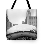 Cloud Gate Chicago Bw 3 Tote Bag