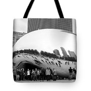 Cloud Gate Chicago Bw 4 Tote Bag