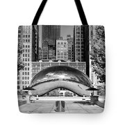 Cloud Gate Park Black And White Tote Bag