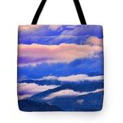 Cloud Layers At Sunset Tote Bag