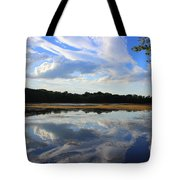 Cloud Show, Reflected Tote Bag