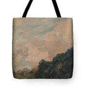 Cloud Study With Trees Tote Bag