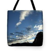 Cloud Sweep And Silhouette Tote Bag