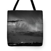 Cloud To Cloud Lightning Boulder County Colorado Bw Tote Bag