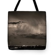 Cloud To Cloud Lightning Boulder County Colorado Bw Sepia Tote Bag