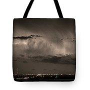 Cloud To Cloud Lightning Boulder County Colorado Sepia Color Mix Tote Bag