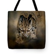 Clouded Leopard On The Hunt Tote Bag