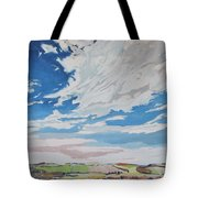 Clouded Sky On The Valley Tote Bag