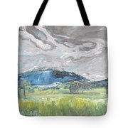 Clouded Sky Over Woburn Quebec Canada Tote Bag