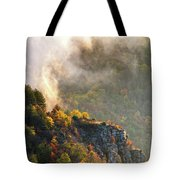 Clouds Above The Crest Of The Mountain Tote Bag
