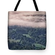 Clouds Above The Valley Panoramic Tote Bag