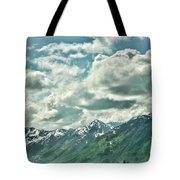 Clouds Alaska Mtns  Tote Bag