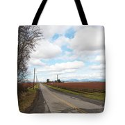 Clouds And Blueberry Bushes Tote Bag