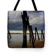 Clouds And Iron Pillars Tote Bag