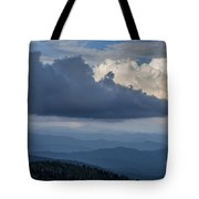 Clouds And Mountain Range Tote Bag