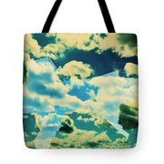 Clouds And Nyc Tote Bag