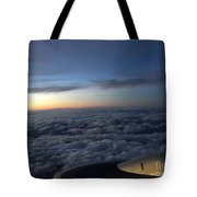 Clouds And Plane Tote Bag