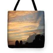 Clouds And Silos  Tote Bag